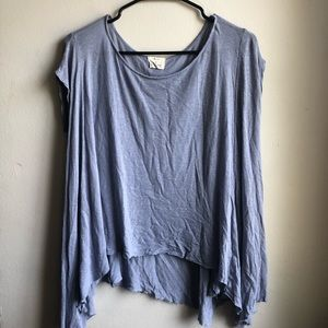Pins And Needles Flowy Blue Shirt